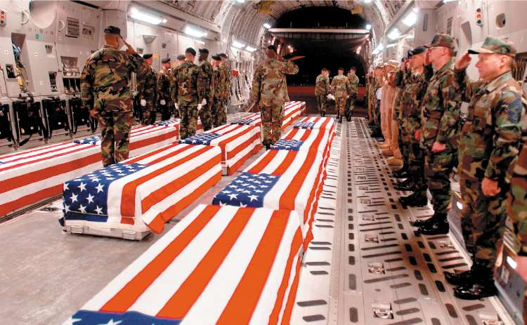 iraq 17 coffins 20378a Hedge Funds to US Soldiers: I need a Maybach, so... You can all die too.