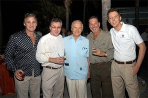 Buzz Alrdin at Yank's party in the Bahamas